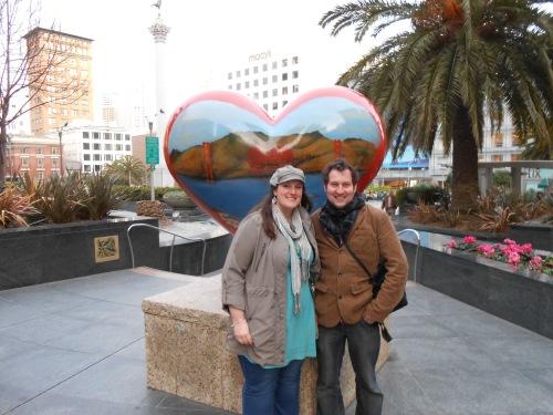 Pandy & Bob Union Sq Heart